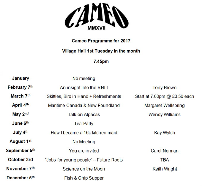 Cameo2017 Poster