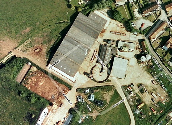 Aerial view of Church Farm